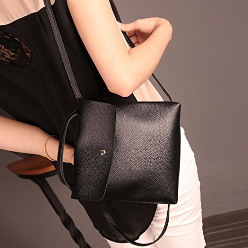 Inkach Travel Black School Womens Rucksack Bags Purse Bag Backpack Fashion Leather Satchel 484qUPrnX