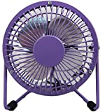 Desktop Fan USB Power Supply Mini Portable Fan (Purple)