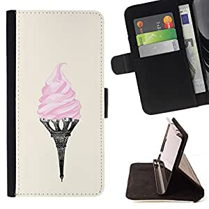 Momo Phone Case / Flip Funda de Cuero Case Cover - Tour Eifel Paris Art Rose France - Samsung Galaxy Note 4 IV