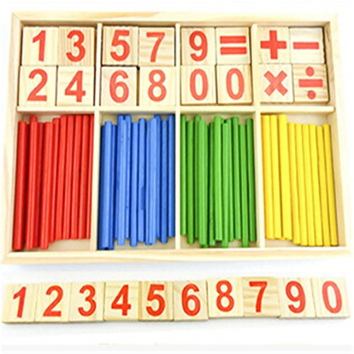 Wooden Numbers Math