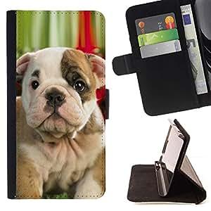 Momo Phone Case / Flip Funda de Cuero Case Cover - Bulldog Bull Terrier Boston American Pit; - HTC One A9