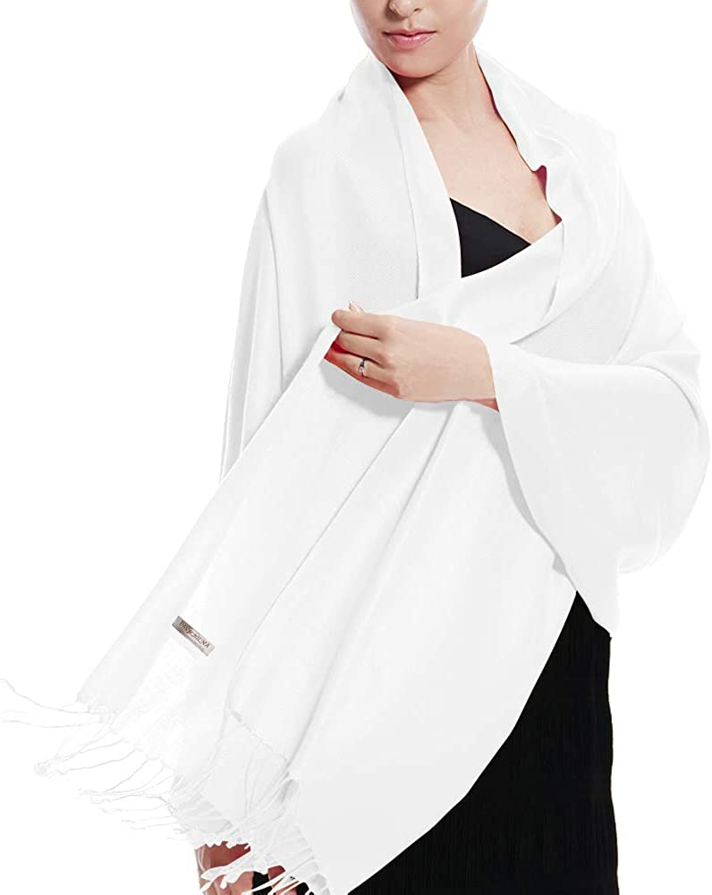 Pashmina Large Soft Plain Shawl/Wrap/Scarf for Women