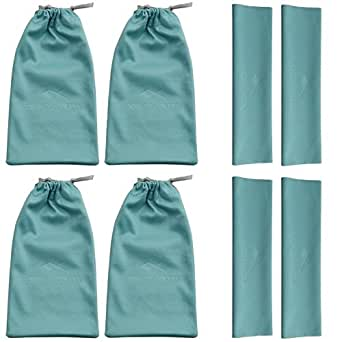 4 Pack Sunglasses Glasses Pouch and Cloth Premium