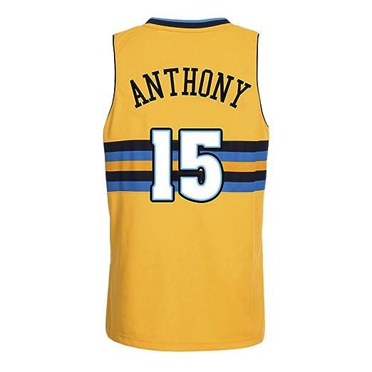 LSYR Baloncesto Jersey Nuggets Melon Anthony No. 15 Jersey Top ...