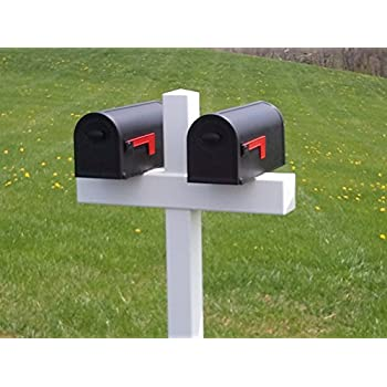 Handy Post Double 54 In X 32 In White Vinyl Mailbox Post Sleeve