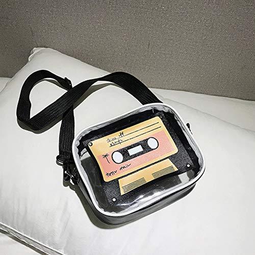 tracolla quadrata donna nera a moda donna borsa vintage 2 colori mini forma Gloglow Borsa tracolla a a I1qHwSOO