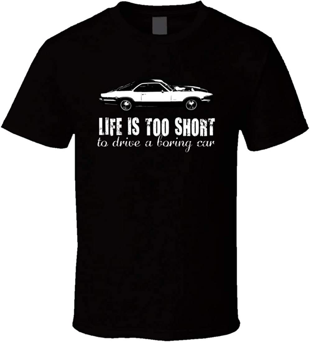 JINLONG 1970 Oldsmobile Toronado 7 4 V8 Life is Too Short Retro Vintage ventilador de coche camiseta