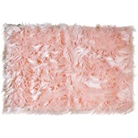Super Area Rugs Soft Faux Sheepskin Shag Silky Rug Baby...