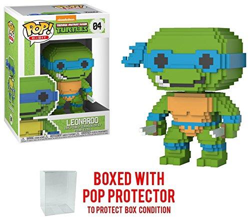 Funko 8-Bit Pop! Teenage Mutant Ninja Turtles - Leonardo Vinyl Figure (Bundled with Pop BOX PROTECTOR -