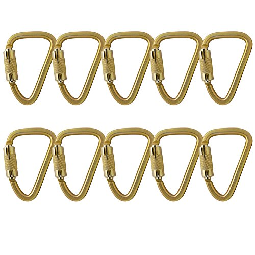 Fusion Climb Aztec Steel High Strength Pear Shape Auto Lock Carabiner 10-Pack by Fusion Climb