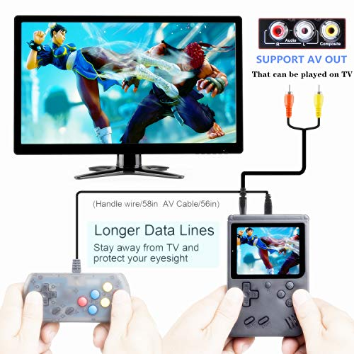 weikin Handheld Game Console, 168 Classic Games 3 Inch LCD Screen Portable Retro Video Game Console Support for Connecting TV and Two Players, Good Gifts for Kids and Adult. by WEIKIN (Image #1)