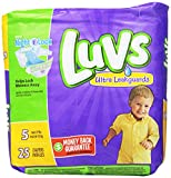 Health & Personal Care : Luvs with Ultra Leak Guards Diapers, Size 5, 25 Count