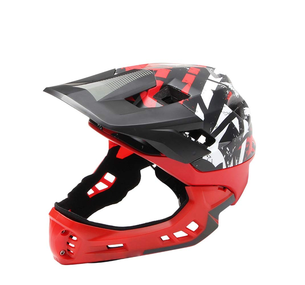 Bikyle Kids Helmet, Sport Helmet Protective Gear for Cycling Skating Skiing Adjustable for Children 5 to 12 Years Old (48-57CM) (Color : Red)