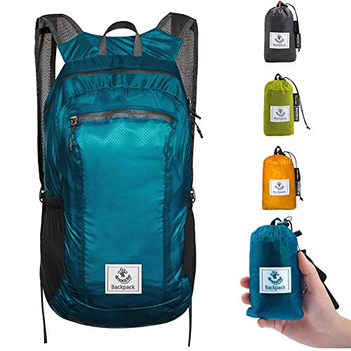 4monster Durable Packable Backpack by Ultra Lightweight Water Resistant Travel Hiking Foldable Outdoor Daypack, 16L]()