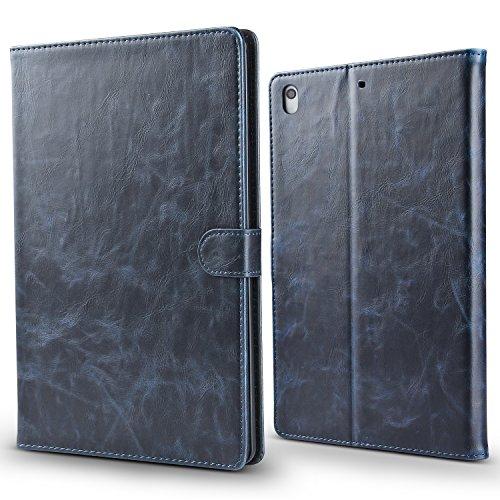 AOKE iPad Pro 11 inch 2018 Release Folio Case, Slim Fit Premium PU Leather Folding Cover case for iPad Pro 11 inch 2018,Auto Sleep Wake, Multi Angle Stand Magnetic Closure Smart Cover, Blue