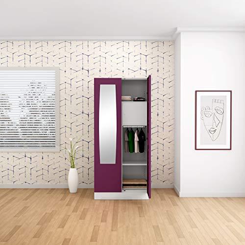 GODREJ INTERIO Slimline Steel Wardrobe Textured Purple,2 Door