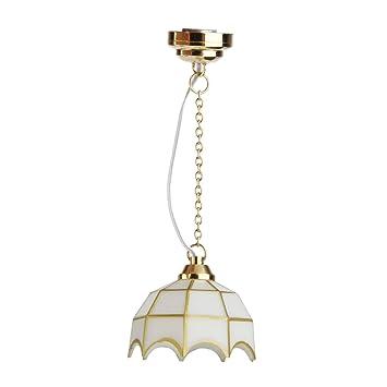 Puppenhaus Beleuchtung Led | Sharplace 1 12 Puppenhaus Miniatur Deckenleuchte Led Licht Lampe