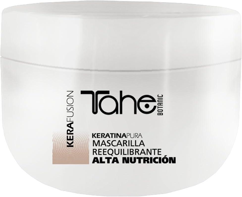 Tahe Kerafusion Mascarilla de Pelo/Mascarilla Capilar Reequilibrante con Queratina Pura, Alta Nutrición, 300 ml