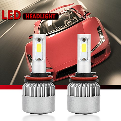 Car Headlamp Bulbs (H11/H8/H9 LED Headlight Conversion Kit, Auto Car Led Headlamp Car Bulbs ,6000K Cool White , All-in-One Error Free Design (H11 (H8/H9)))