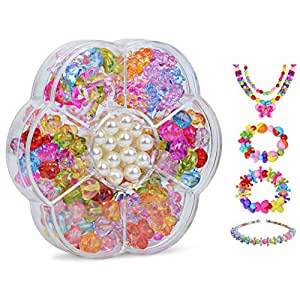 Colorful Beads DIY Toys For Children String Beads Make Up Puzzle Toy Girls Educational Making Jewelry Necklace Bracelet Toys Set