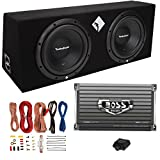 Rockford Fosgate R1-2X10 10' 800W Loaded Subwoofer Sub Enclosure+Amp+Amp Kit