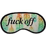 "Novelty Feathers Pattern Eye Mask - "" Fuck Off "" Sleep Joke Blindfold Practical Joke Eyemask Gift"
