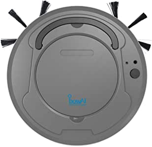 SODIAL 1800Pa Multifunctional Smart Floor Cleaner,3-in-1 Auto Rechargeable Smart Sweeping Robot Dry Wet Sweeping Vacuum Cleaner Strong Suction Robot Cleaner for Home Office Gray