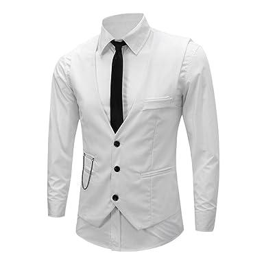 great deals good texture so cheap Chouette Homme Vintage Gilet Costume Casual Veste sans Manches Slim Fit  Business Mariage