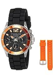 Stuhrling Original Men's 805R.SET.02 Aquadiver Regatta Endurance with Interchangeable Straps Watch Set