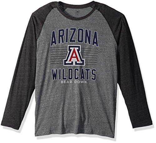 J America NCAA Arizona Wildcats Men's AAA Tee Baseball Tee, Graphite Heather, Large -