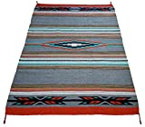 El Paso Designs Beautiful Hand-Woven Serape Area Rugs Featuring Feather Hawkeye Pattern. Three Sizes to Choose From. (HA4X6FEATHER3)