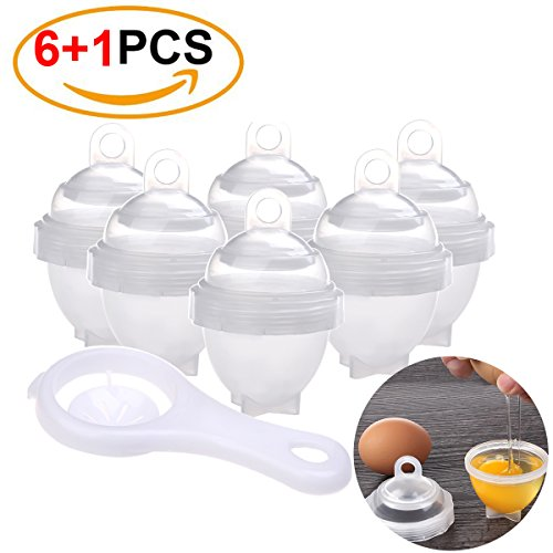 Egg Cooker With Egg Separator As Seen On Tv Egg Boil Hard Boiled Bpa Free Eggs Cooker Hard   Soft Maker No Shell  6 1 Pack