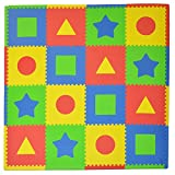 Tadpoles Soft EVA Foam 16pc Playmat Set, First Shapes, Multi, 50