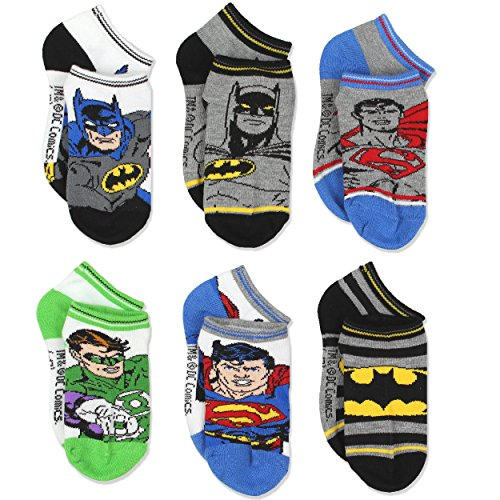 Justice League Superhero Boys 6 pack Socks (2T-4T, - Shoes League Justice