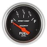 Auto Meter AutoMeter 3319 Gauge, Fuel Level, 2 1/16'', 73Ωe to 10Ωf(Aftermarket Linear), Elec, Sport-Comp