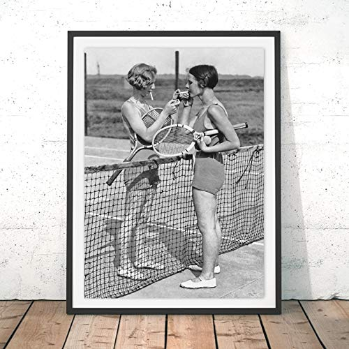 baodanla No Frame Tennis Poster Canvas Art Print Women ...
