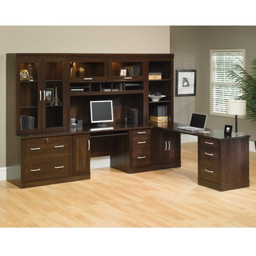 Office Port Dark Alder Complete Office Suite Dark Alder - Chair Sauder Office Furniture
