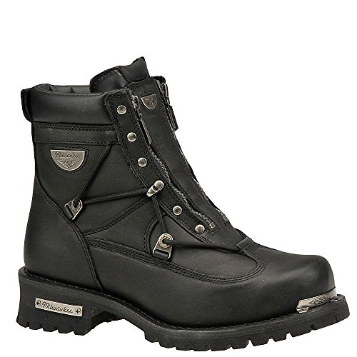 Milwaukee Motorcycle Clothing Company Men's Throttle Motorcycle Boots (Size (Discount Motorcycle Boots)