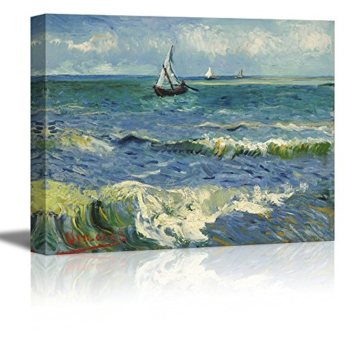 Seascape Near Les Saintes Maries De La Mer by Vincent Van Gogh Oil Painting Reproduction