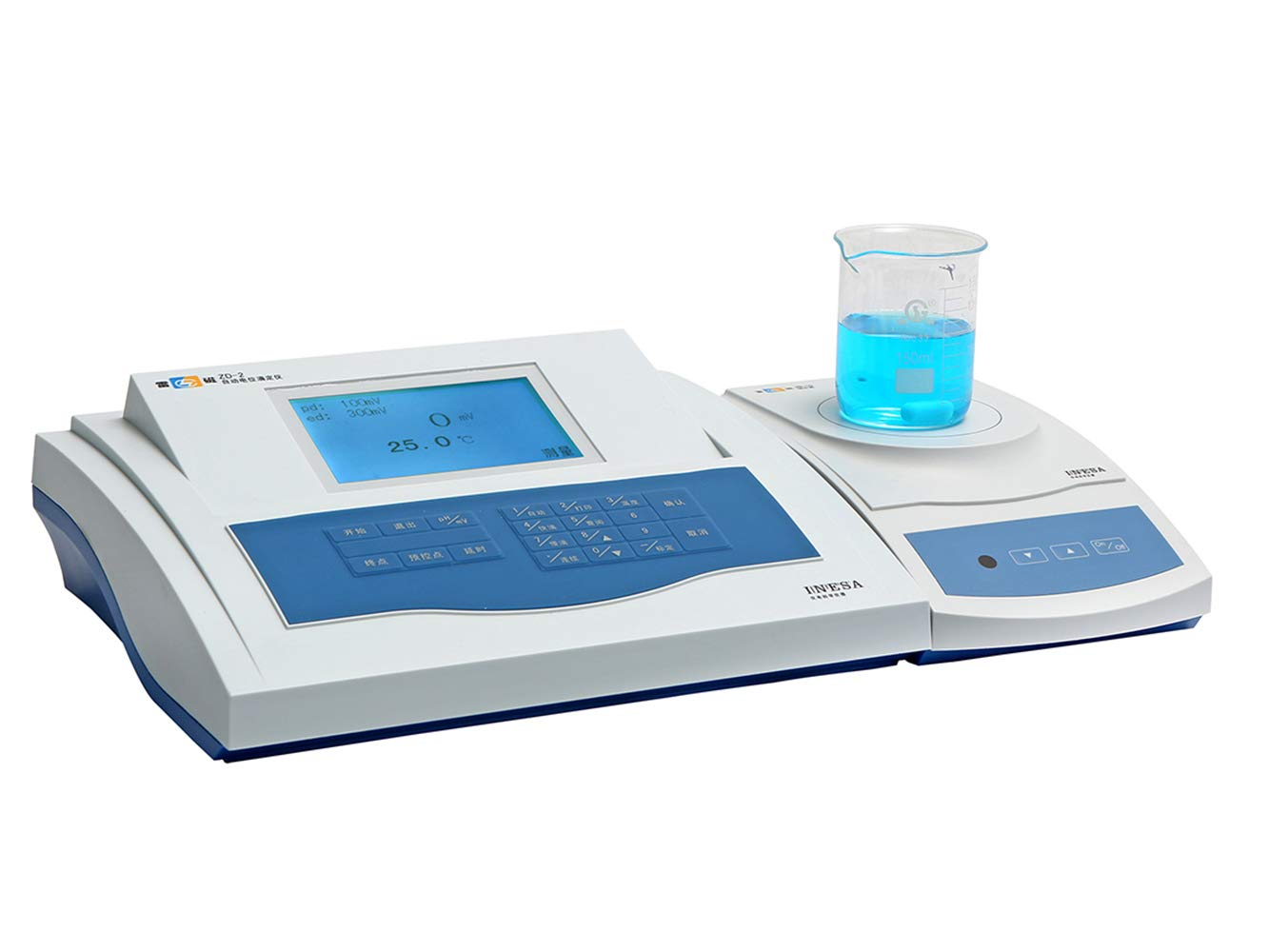 Hanchen ZD-2 Automatic Potentiometric Titrator with 3 Modes and Pre Control System Digital Titration Instrument 0.00~14.00PH, -1400 to 1400mv for Testing PH and Titrimetric Analysis by Hanchen