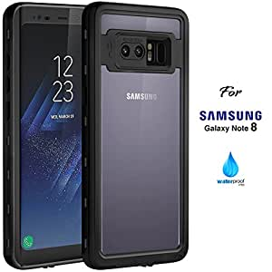 Samsung Galaxy Note8 Waterproof Case, 2017 Version IP68 Case by ASAKUKI, Certified Case, Full Body Protective, Shockproof, Scratch-proof, Dustproof Case With Sensitive Screen Protector
