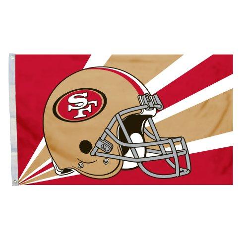 Fremont Die NFL San Francisco 49Ers 3-by-5 Foot Helmet Flag - Football Helmet Cart