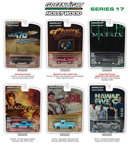 Hollywood Series / Release 17, 6pc Diecast Car Set 1/64 by Greenlight 44770