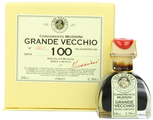 Mussini 100 Year Balsamic Vineagr, Il Grande Vecchio, 2.39 Ounce Glass Bottle by Mussini