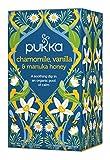 keurig bigelow chamomile - Pukka Chamomile, Vanilla and Manuka Honey, Organic and Caffeine Free Herbal Tea, 20 individually wrapped Tea Bags, 6 Count