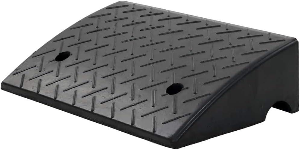 SOULONG - 2 rampas de Goma para Acceso de Coches, caravanas, sillas de Ruedas, 50 x 32,5 x 14 cm, Color Negro