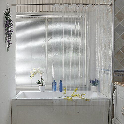 Eforcurtain X Long 72x86Inch Clear Shower Curtain Liner 18 Gauge Nontoxic with Magnets and Metal Grommets Bathroom Stall Curtain Waterproof and No More Midew Antibacterial