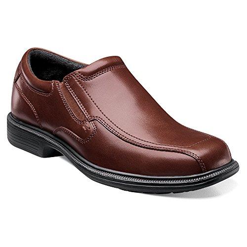 Nunn Bush Men's Bleeker St Brown Leather Slip on Loafer Dress Shoes (10 M, - Bleeker St
