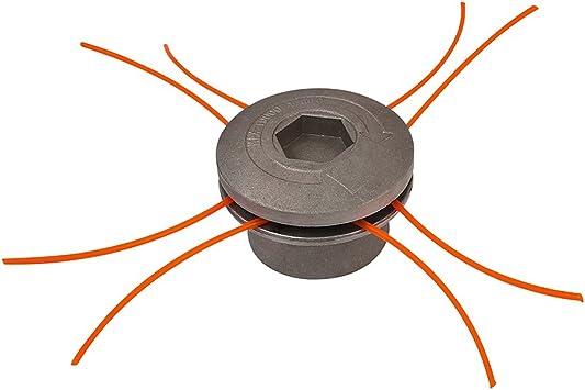Groway 51313011 - Cabezal para desbrozadora en aluminio, 8 hilos: Amazon.es: Bricolaje y herramientas