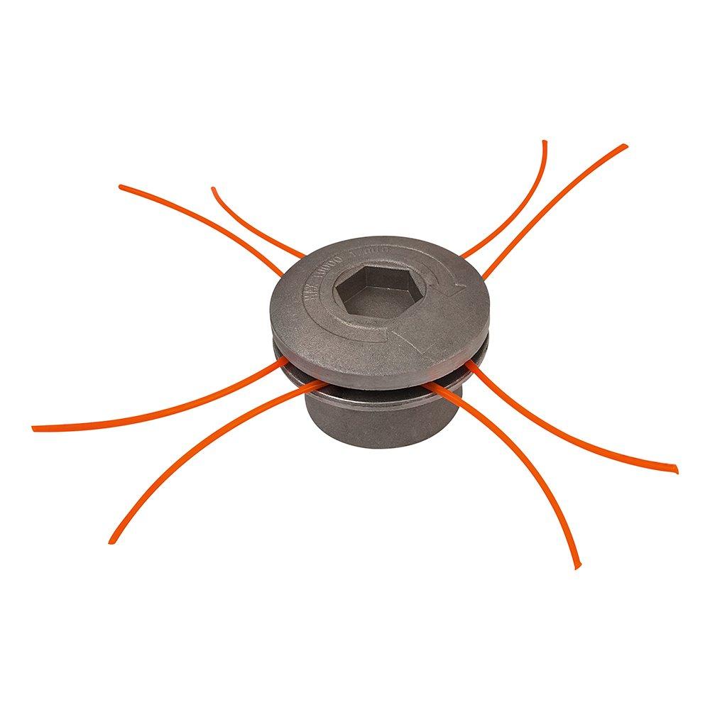 Groway 51313011 - Cabezal para desbrozadora en aluminio, 8 hilos